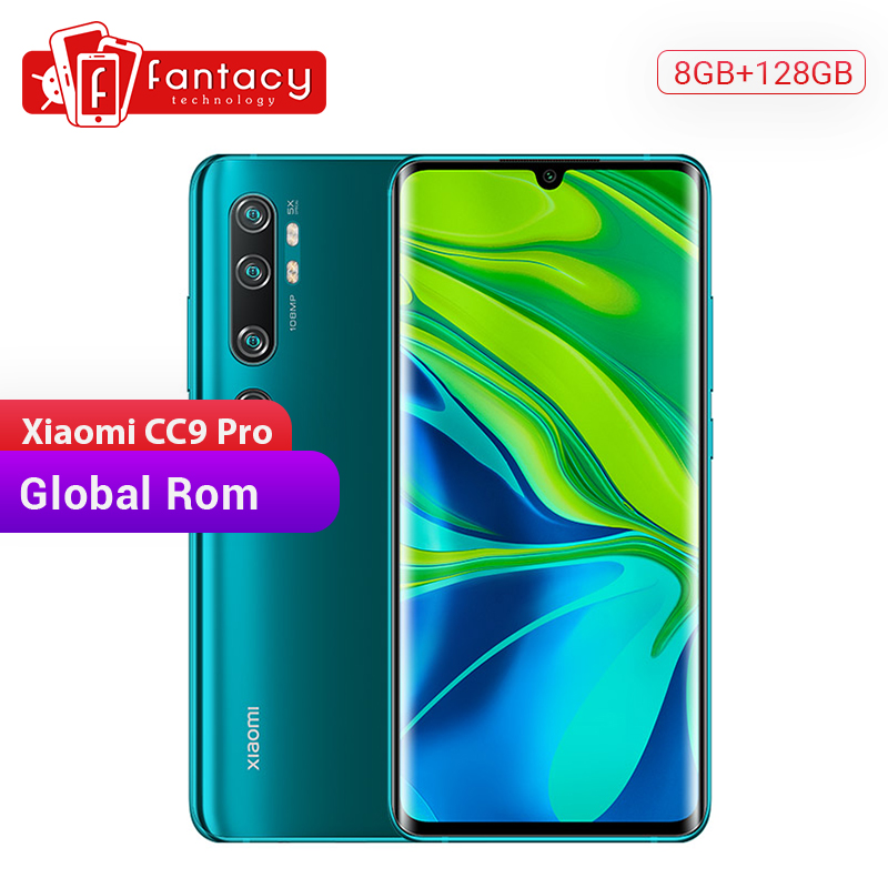 In Stock Global Rom Xiaomi Mi CC9 Pro CC 9 Pro 8GB 128GB 108MP Penta 5 Cameras Snapdragon 730G Smartphone 6.47'' AMOLED Curved