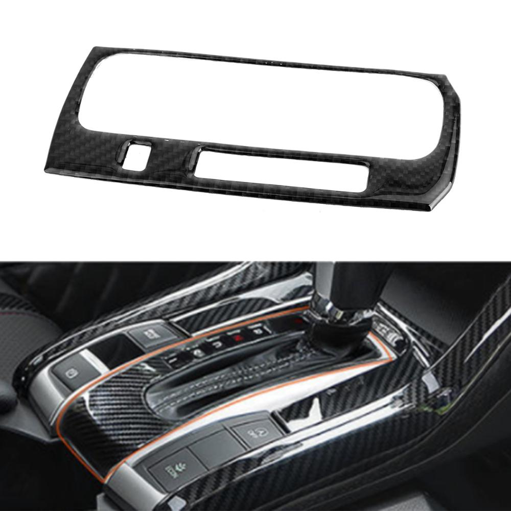 Areyourshop Carbon Fiber Gear Shift Box Panel Cover Trim For Honda Civic 10th 2016-2019 Panel Cover Trim Car Auto Styling Parts