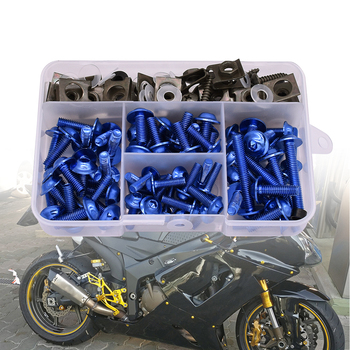 Universal Motorcycle Fairing Screw Spring Bolts Kit Body Fastener Clips For HONDA CRF230F XR230 XR250 XR400 CRF 230F XR 250 230 image