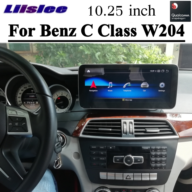 Car Multimedia GPS Audio Radio For Mercedes Benz MB C Class W204 2011 2012 2013 2014 2015 Wireless CarPlay 4G Navigation NAVI image