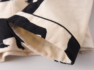 Image 3 - Bonito urso branco 100% algodão escovado conjuntos de pijama feminino outono casual moda sleepwear feminino pijamas sexy mujer