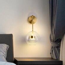 Домашний Настенный светильник для гостиной круглый стеклянный