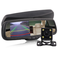 Car Auto Rearview 16:9 4.3 LCD Screen Mirror Monitor Display Auto Dimming With Bracket & Camera Automotive Electronics Camera