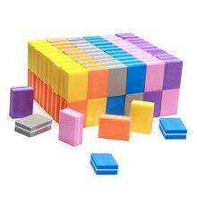 20 шт двусторонние буферы для ногтей квадратные блоки полировки