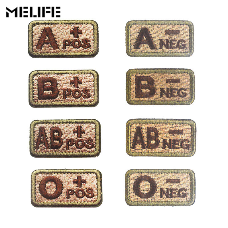Hunting Accessories Patches Blood Type Group Patch Military Tactical  Hook Loop Embroidery Military Tactics Badge For Clothing
