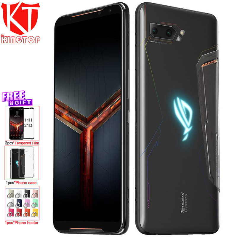 "Global Firmware ASUS ROG Phone 2 Mobile Phone 6.59"" 8G 128G Snapdragon 855 Plus 2.96Ghz 48MP Android 9 6000mAh NFC Gaming Phone"