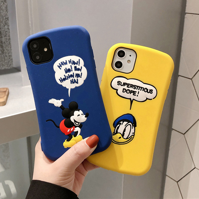 Cartoon 3D Mickey Silicone Case for iphone
