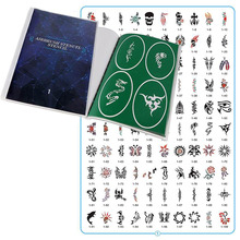 100pcs Pictures (book 1) Reusable Adhesive Temporary Henna Glitter Airbrush Tattoo Stencil For Woman Girl Kids Drawing Template tanie tanio FLANCH 100 pictures flower skull animal