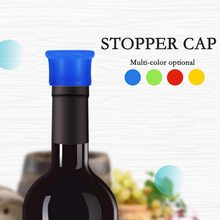 1pc 35x25mm New Muti-color Silicone Wine Bottle Stoppper Reusable Beverage Bottle Seal Cap Saver Keep Fresh #5(China)