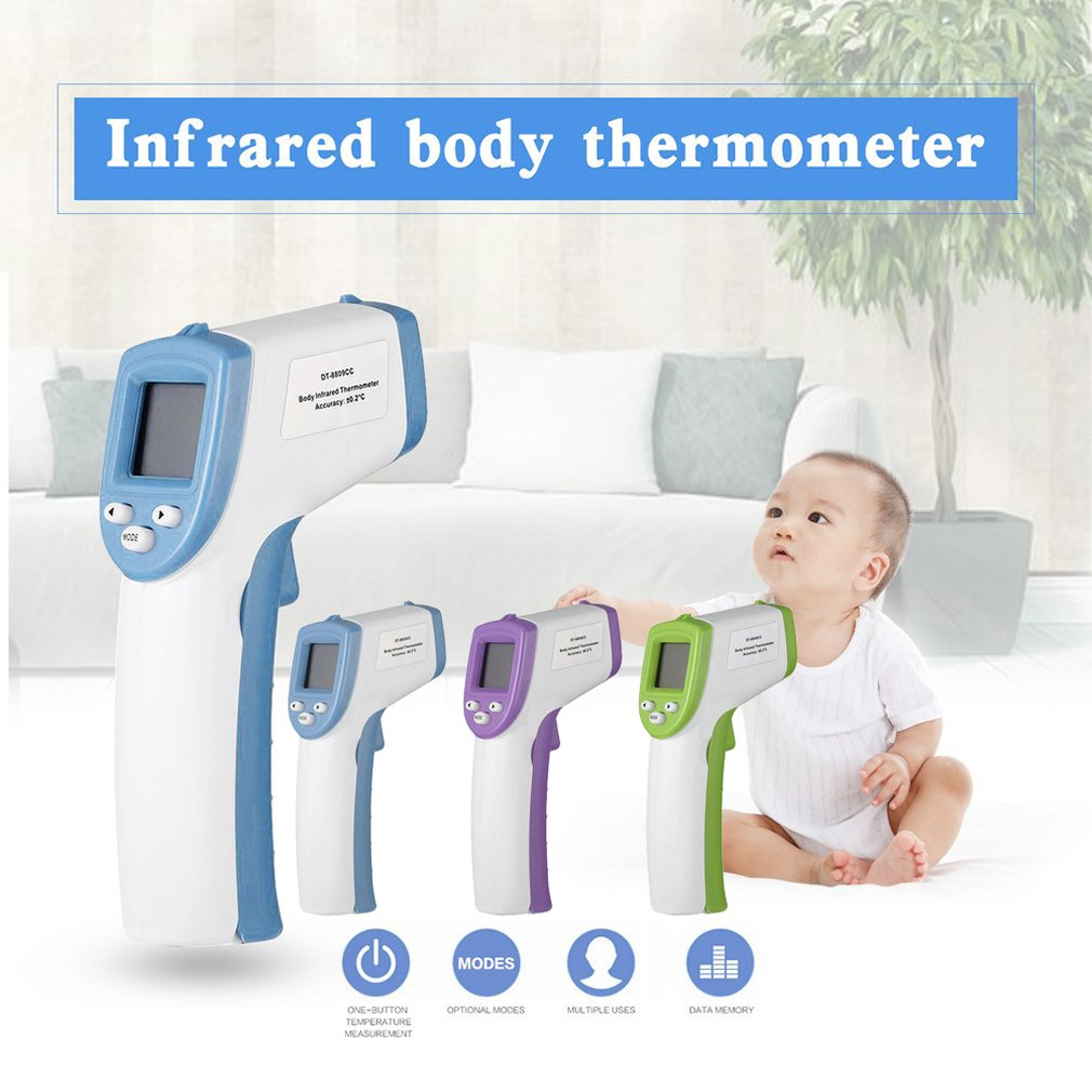 Infrared Human Body Temperature Detector Human Body Infrared Forehead Digital Thermometer Electronic Body Temperature Dropship