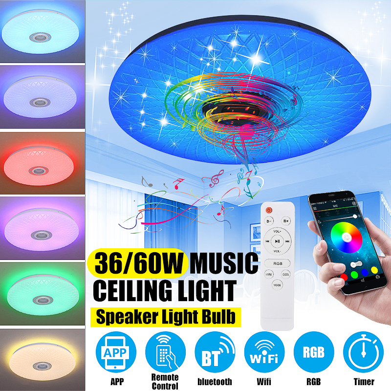 H3ba3585915554c5eb343656c0b699f7b5 Modern RGB LED Ceiling Light home lighing 36W/60W 40cm APP Remote Control bluetooth Music Light Bedroom Lamp Smart Ceiling Lamp