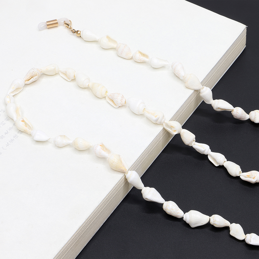 Simple White Sea Shells Conch Sunglasses Chain Holder Neck Strap Rope Necklaces Women Girls Elegant Beach Jewelry Glasses Chain