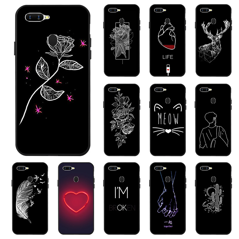 Phone <font><b>Case</b></font> For <font><b>OPPO</b></font> A5s A3s A37 <font><b>Case</b></font> Silicon <font><b>Case</b></font> <font><b>OPPO</b></font> A1K A71 A59 A5 2020 A39 A57 <font><b>A33</b></font> A3 Reno Z Ace Realme 5 3 Pro C2 XT Cover image