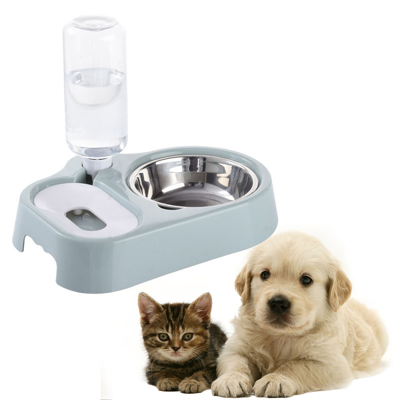 Dog Bowl Pet Automatic Drinking Water Bottle Cat Bowls Products Puppy Bowl Dogs Drinking Water Will Not Cause Mouth-Hair Get Wet