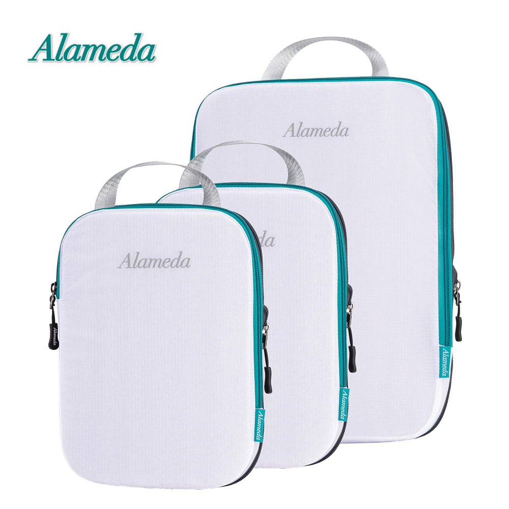 Luggage Compression Packing Cubes Bag For Travel Pouch 3pcs Set Luggage Pack Organizer Waterproof Travel Accessorie
