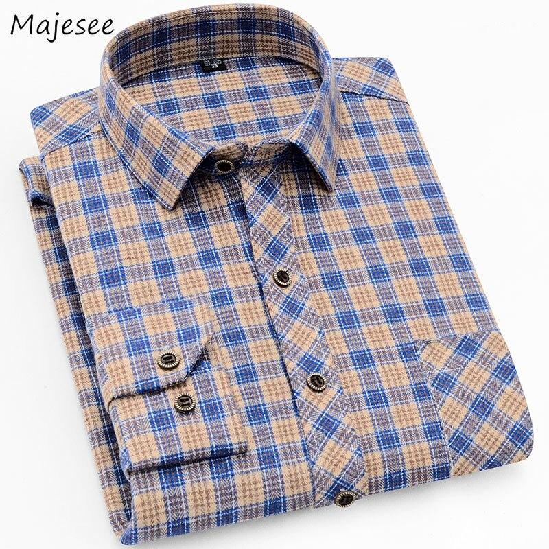 Men Shirt Long Sleeve Plaid Korean Clothes Plus Size Mens Shirts Casual Slim Fit High Quality Males Autumn Harajuku Tops  Chic