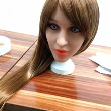 Straight hair Sex Doll Head for Lifelike Oral Sex