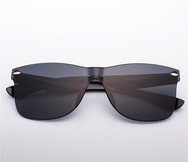 2020 Fashion One-piece Cat Eye Sunglasses Women/Men Gradient Lens Retro Mirror Rimless Sun Glasses Vintage Travel Eyewear Oculos 4