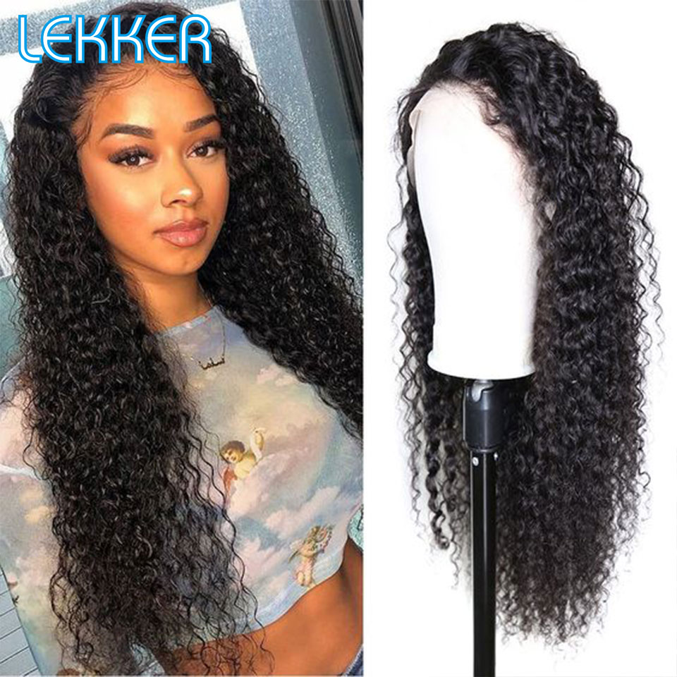 Lekker Brazilian Remy 13x4 Lace Front Human Hair Wigs Left Side Part Wigs Deep Wave Human Hair Wig Pre Plucked With Baby Hair