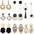 Винтажные массивные серьги-подвески для женщин 2020, новые богемные модные украшения, Корейская металлическая Геометрическая Золотая подвес...