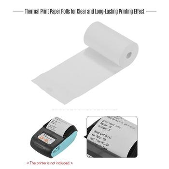 1PC Thermal Paper 57 X 30 Mm No Core Free 5 Rolls Super Mobile Cash Long Register Roll Paper Bluetooth B3J2 image