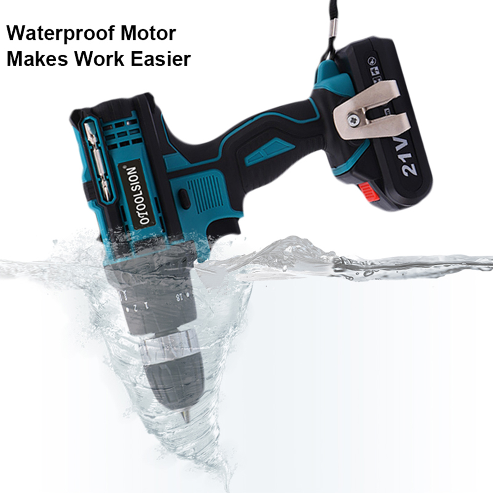 New 21V Impact Mini Drill Hammer Drill Electric Power Tool Cordless Impact Screwdriver Electric Hammer Drill For Renovation Team11