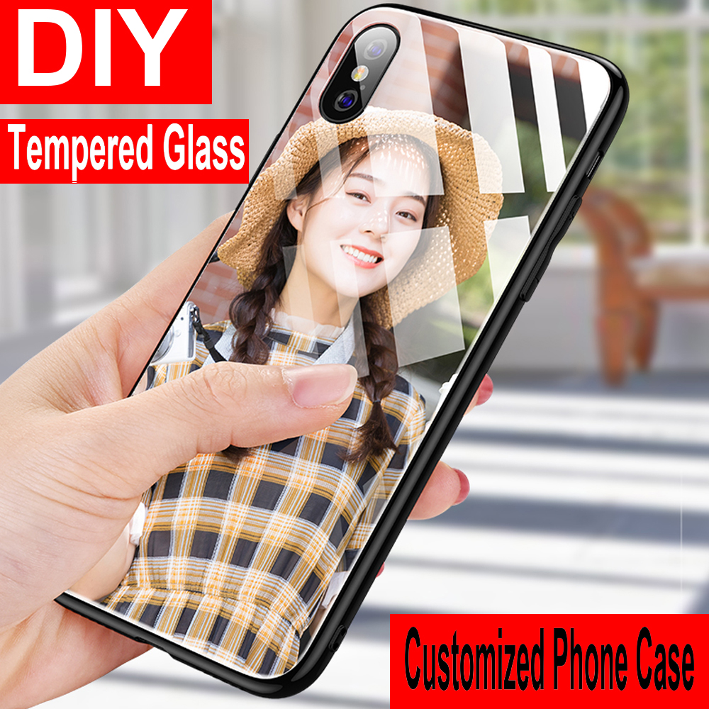 Tempered Glass DIY Phone <font><b>Case</b></font> For <font><b>OPPO</b></font> A33 A33T A37 A39 A57 A52 A59 A77 A79 <font><b>A83</b></font> A91 A92 A92S A73 A31 2020 Custom <font><b>Cover</b></font> <font><b>Case</b></font> image