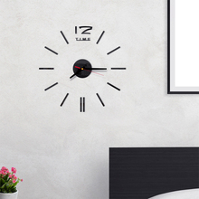 New Wall Clock Modern Design DIY Analog 3D Mirror Surface Large Number Wall Clock Europe Acrylic Sticker Home Decor Dropship