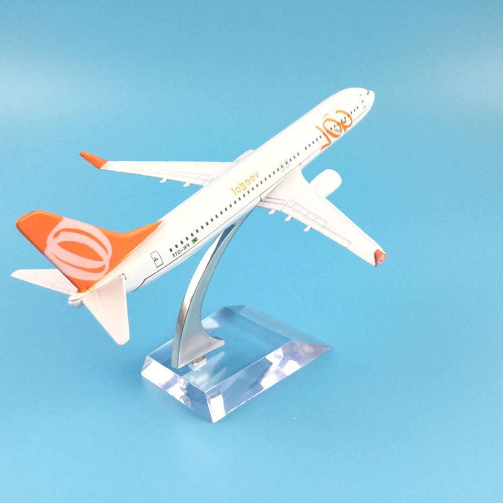 1/400 Brazil Air GOL Airlines Boeing B737-800 Plane Airplane Model Kids Toy Gift image