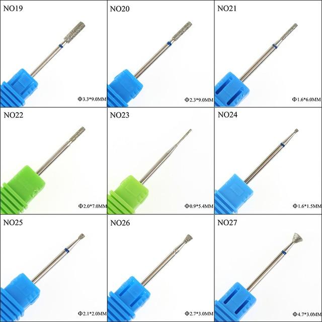 36 Type Diamond Nail Drill Burr Milling Manicure Cutter Nail Pedicure Bits Electric Drill Machine Accessory Nail Files Art Tools 3