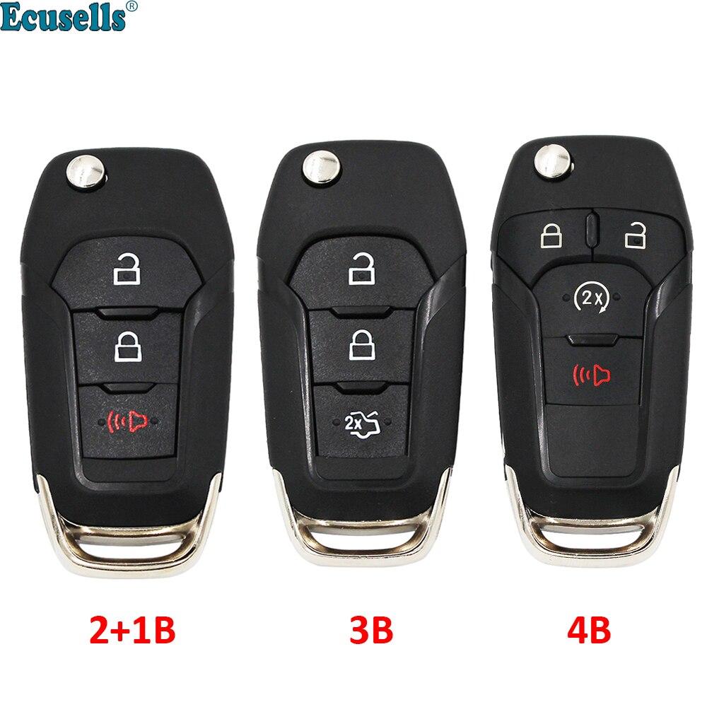 3/4 кнопочный складной откидной пульт дистанционного управления автомобильный ключ Оболочка Чехол для Ford Fusion Edge Explorer 2013 2014 2015 HU101 Uncut Ключ от авто      АлиЭкспресс