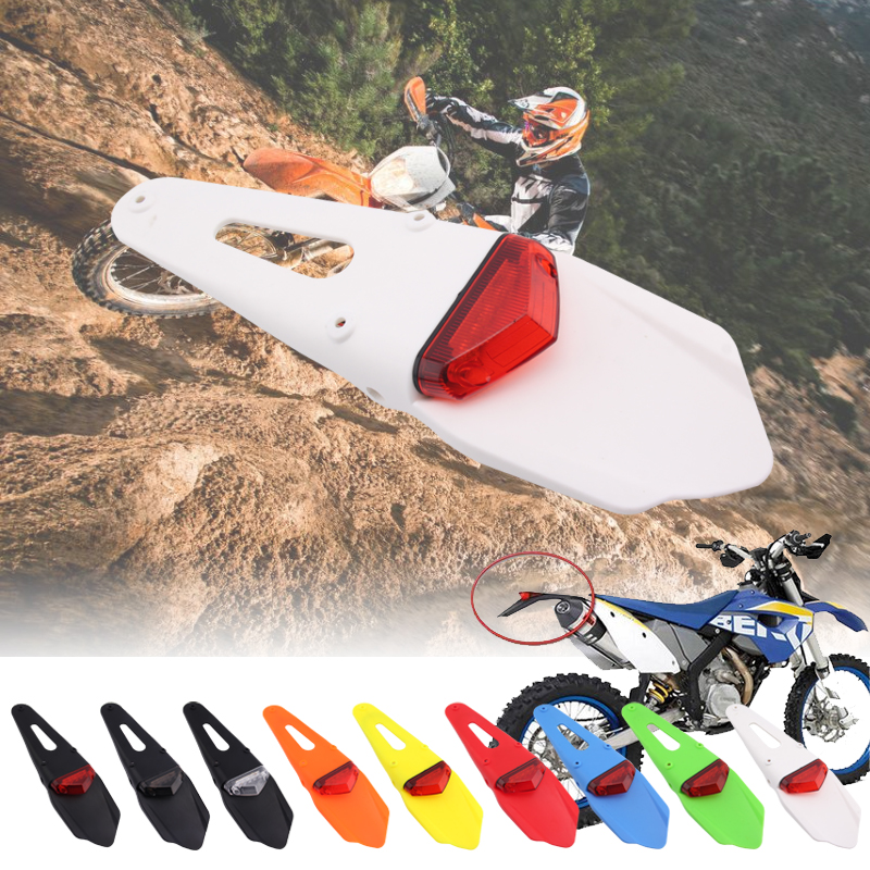 New 9 Color Motorcycle Tail LED Light And Rear Fender Stop Enduro Tail Light MX Trail Supermoto For KTM CR EXC WRF 250 400 426 4
