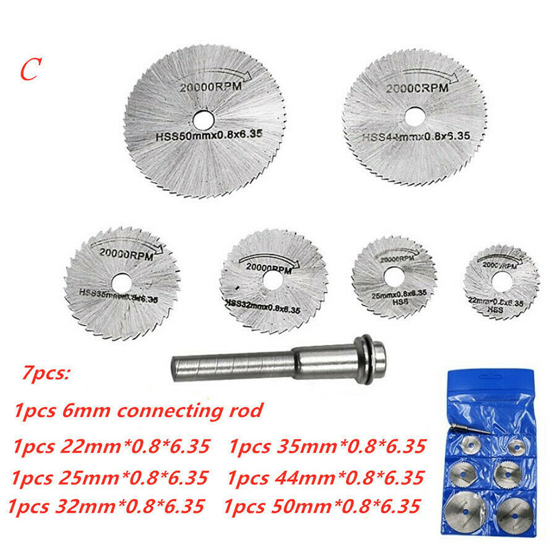 1 Set Disc Drill Cutters High Speed Steel Circular Saw Accessories For Wooden PVC Metal AC889