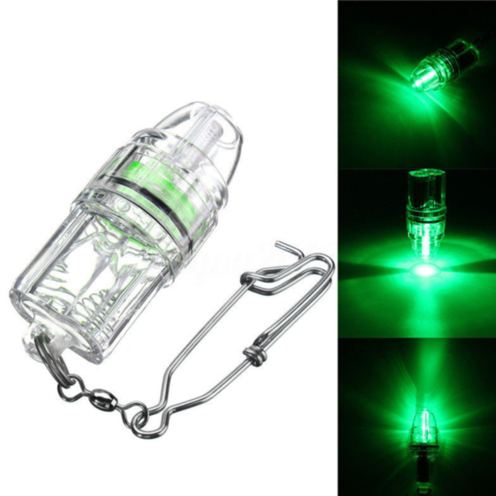 Electronic Tools Flashing Light Battery Powered Underwater Fishing Lure Lamp Deep Drop Squid With Chain False Bait Led Emitting