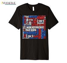 2019 New Summer Casual Men Tee Shirt Hockeys Related words Typography Design Premium T-Shirt
