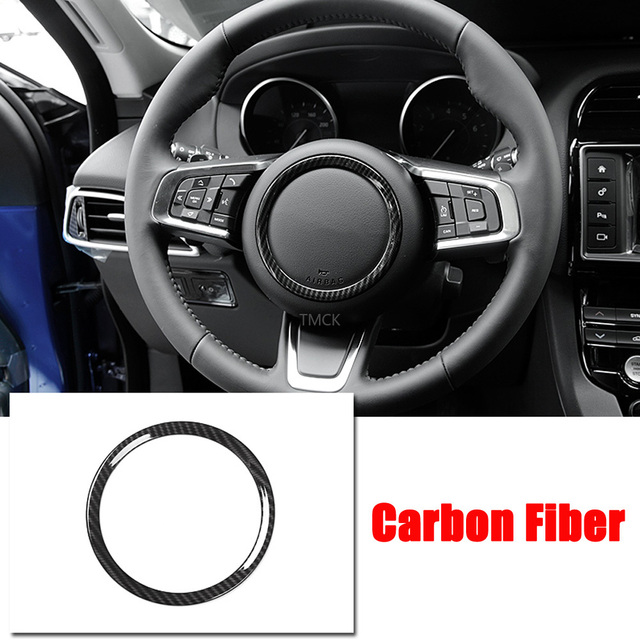 ABS Chrome Car Accessories Steering Wheel Ring Sticker Logo Frame Trim for Jaguar F-Pace X761 XE X760 XF/XFL X260 E-PACE F-TYPE 3