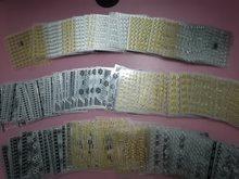 30sheetsmixed ouro prata adesivos de unhas projetos gommed 3d arte do prego adesivos decalques makep arte decorações