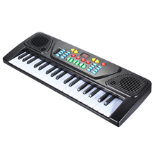 купить 37 Keys Kid Organ Electric Piano Digital Music Electronic Keyboard Musical Instrument With Mini Microphone For Children дешево