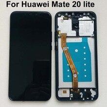 """Oryginalny 100% testowane 6.3 """"dla Huawei Mate 20 lite mate 20 lite wyświetlacz LCD Digitizer ekran dotykowy montaż części najlepsza jakość"""