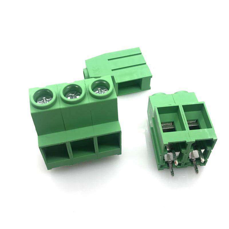 50Pcs 5mm Pitch Universal 3 Pin 3 Poles PCB Screw Terminal Block Connector