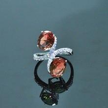 Mh диаспоры zultanite Драгоценное кольцо для женщин 925 стерлингового