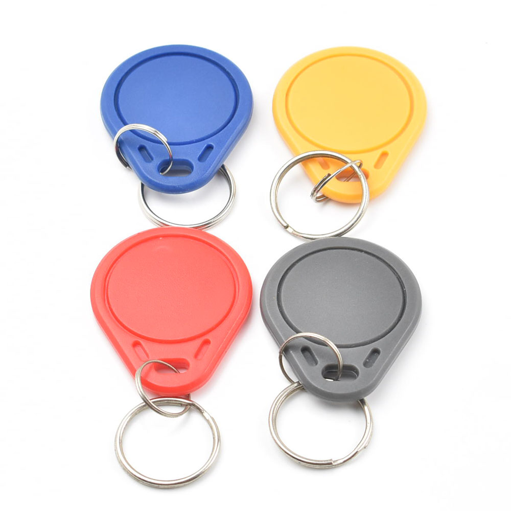500pcs/bag S50 RFID 13.56 Mhz IC Tag Token Key Ring IC Cards Blue China Fudan Chip Nfc Phone(except Galaxy S4)