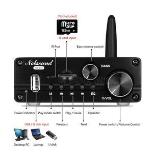 Image 3 - Усилитель мощности Douk audio Mini Bluetooth 5,0, класс D 2,1, Hi Fi стерео аудио сабвуфер, Amp USB/ AUX/ U disk Player