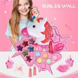 Ролевые игры для девочек набор инструментов для макияжа безопасные нетоксичные игрушки Наборы для макияжа для детей дошкольного возраста ...