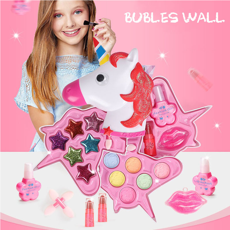 Pretend Play Girls Makeup Tools Kit Safe Non-toxic Toys Make Up Sets Preschool Kids Beauty Safety Toy For Children Girl Makeup