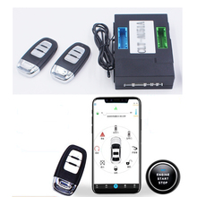 PLUSOBD for Audi A6 2005-2011 Car Alarm System Keyless Entry Engine Start Stop With Push Button Start Smartphone Remote Control pke car alarm system push button start remote start engine with password keyboard auto lock