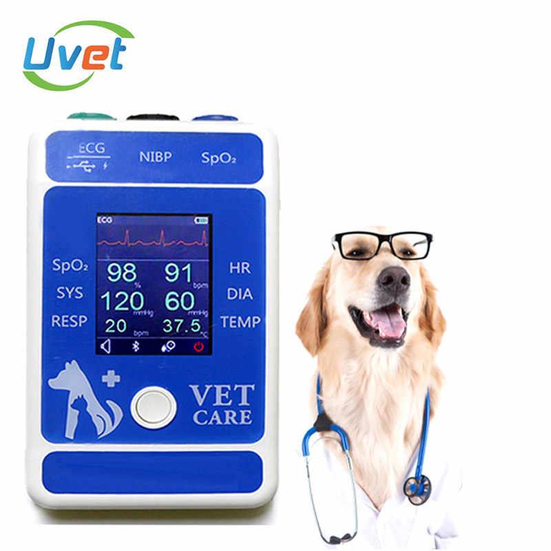 Upt مستشفى الحيوان الطبية ECG درجة الحرارة SPO2 معدات بيطرية بلوتوث الحيوان يده مراقبة المريض pluse مقياس التأكسج