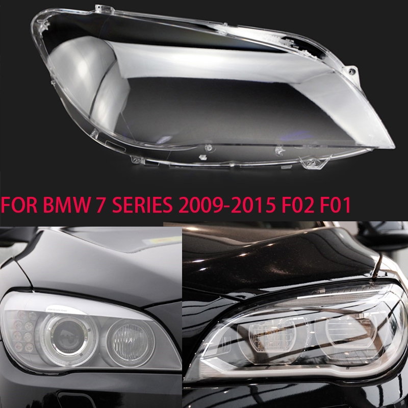For Bmw 7 Series 2009-2015 Lens Headlights Transparent Lamps Lamp Shield Shades Headlights Cover Lens Glass Headlight F02 F01