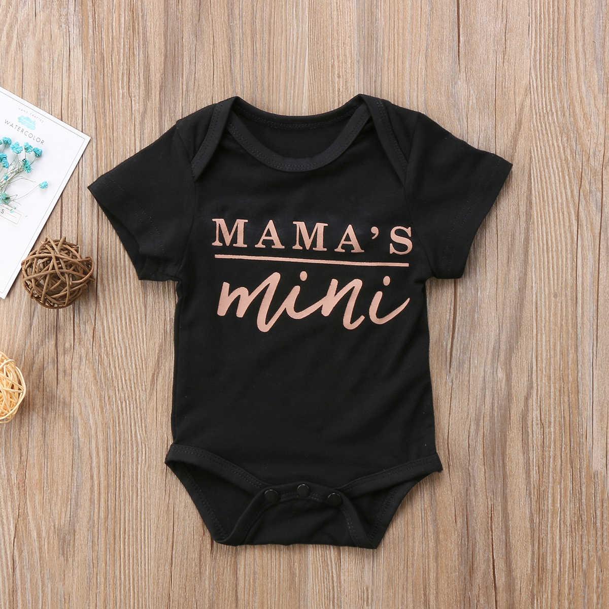 2019 Bebê Recém-nascido Do Bebê Roupas de Verão Meninos Meninas Roupas Roupas Carta Impressão de Manga Curta Bodysuit Macacão Sunsuit 0-18M