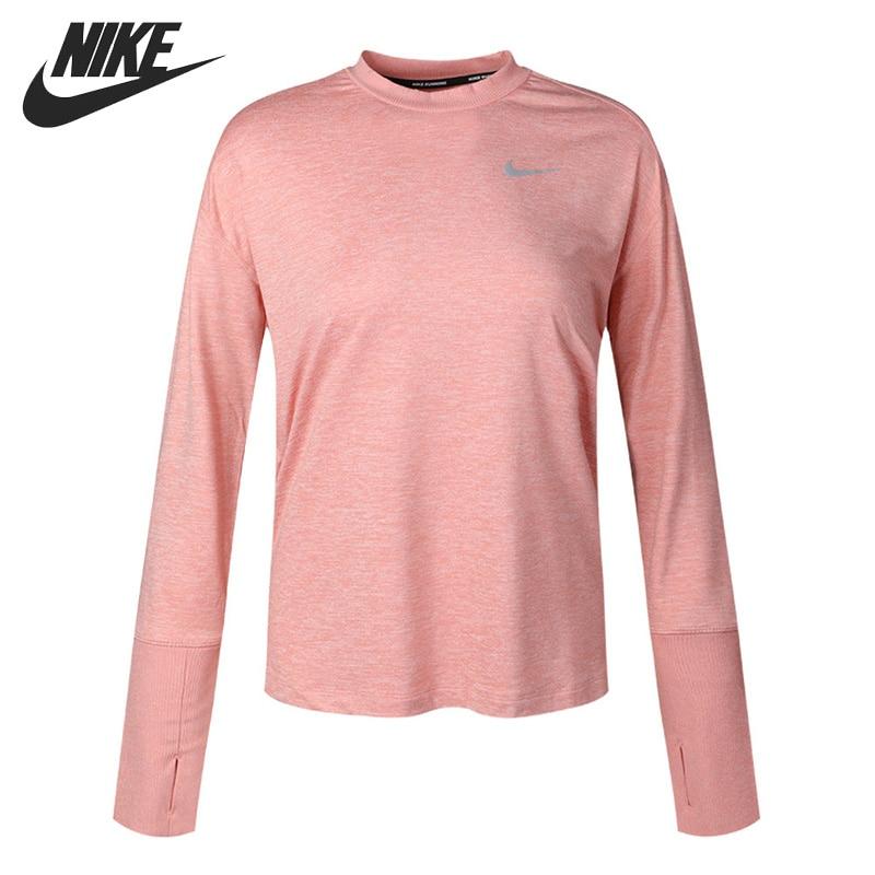 Original New Arrival  NIKE AS W NK ELMNT TOP CREW Women's  T-shirts  Long sleeve Sportswear